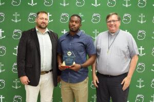 Vance Joseph - Derrick Joseph receiving the award on behalf of his brother